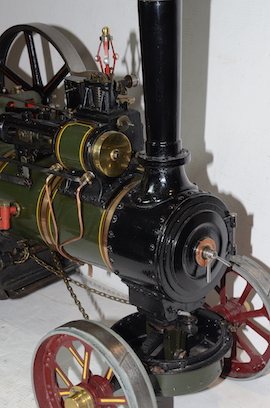 "smokebox view Allchin 1.5"" live steam traction engine for sale"