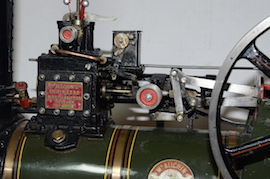 "cylinder view Allchin 1.5"" live steam traction engine for sale"