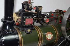 "side view Allchin 1.5"" live steam traction engine for sale"