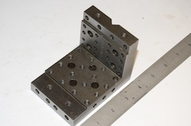 main view angle plate drilled & tapped for sale