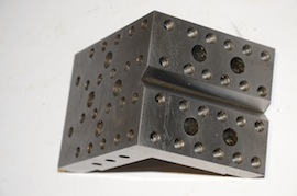 V view angle plate drilled & tapped for sale