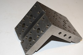 back view angle plate drilled & tapped for sale