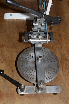Chronos clock wheel cutting machine clockmakers for sale top view