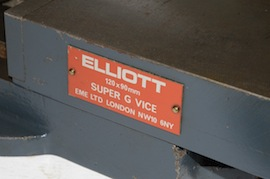 badge view Elliott super G 120m machine vice milling machine  for sale
