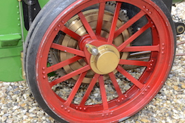 "wheel2 view Minnie 2"" live steam traction engine for sale"