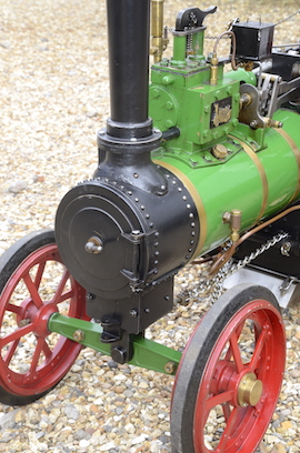 "smokebox view Minnie 2"" live steam traction engine for sale"