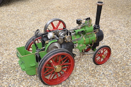 "main view Minnie 2"" live steam traction engine for sale"