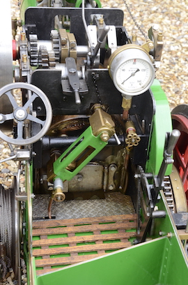"backhead view Minnie 2"" live steam traction engine for sale"