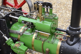 "cylinder view Minnie 2"" live steam traction engine for sale"