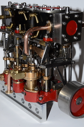 right view Stuart Triple Expansion Marine Live Steam engine for sale
